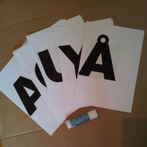 Slik lager du veggdekor: alfabetet 1